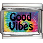 Good Vibes with Tie Dye Background