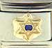 FINAL SALE Blue CZ Star of David