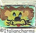 FINAL SALE Italian Hand Painted Lion on Green