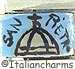 FINAL SALE Italian Hand Painted St. Peter's on Blue