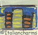 FINAL SALE Italian Hand Painted City Skyline