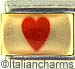 Fantasy Red Heart on Clear Gold