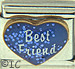 Best Friend on Sparkle Blue Heart