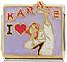 I Love Karate on Lavender