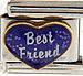Best Friend on Sparkle Purple Heart