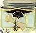 Graduation Hat and Diploma on White