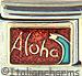 Aloha on Sparkle Red
