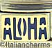 Blue ALOHA on Gold