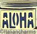 Blue ALOHA on Gold