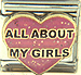 All About My Girls on Pink Heart