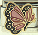 Bronze With Hint of pink Butterfly