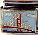 San Francisco with Bridge on Blue