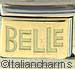 Disney Belle Text on Gold