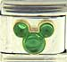 Disney Mickey Green Cabochon