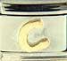 Disney Gold Letter C