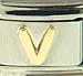 Disney Gold Letter V