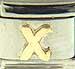 Disney Gold Letter X