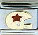 Football Helmet - Red Star