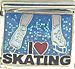 I Love Ice Skating on Blue