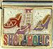 Shopaholic on White Background