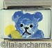 Handpainted Blue Teddy Bear
