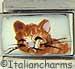 FINAL SALE Handpainted Brown Cat