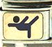 FINAL SALE Blue Gymnast on Gold