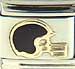FINAL SALE Black Football Helmet