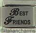 Laser Best Friends   Cursive BF
