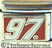 License Nascar White 97 on Red Busch