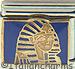 Pharaoh King Tut on Blue