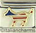 FINAL SALE Patriotic Donkey with Stripes
