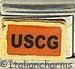 Black USCG on Orange