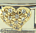 CZ Pave Puffy Heart