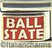 Ball State Text on Red