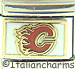 Licensed Hockey Calgary Flames on White