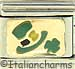 Green Hat on Gold with Shamrock