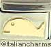 18K Flat Gold Whale