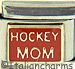 Gold Hockey Mom on Red
