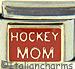 Gold Hockey Mom on Red