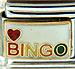Bingo with Heart on White