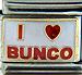 I Love Bunco on White