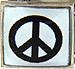 Black Peace Sign