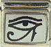 Egyptian Eye of Ra on White