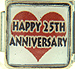 Happy 25th Anniversary on Red Heart