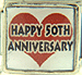Happy 50th Anniversary on Red Heart