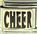 FINAL SALE Black Cheer Text