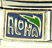 Aloha with Blue and Green