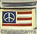 American Flag with Peace Sign