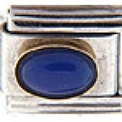 September Blue Oval Stone